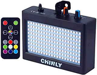 Strobe Light, CHINLY LED Party Stage Lighting RGB 35W 180leds Sound Control Auto Operation Strobe Speed Portable Adjustable for Disco Bar Wedding Party KTV Concert Remote Control