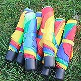 MingXiao Paraguas Plegable Arco Iris Anti-UV Parasoles A Prueba de Mujeres Protección Compacta de Viaje para la Vida Diaria