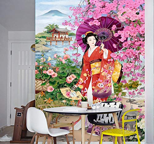Fotomurales Papel Tapiz Japonés Sakura Beauty Photo Fondo