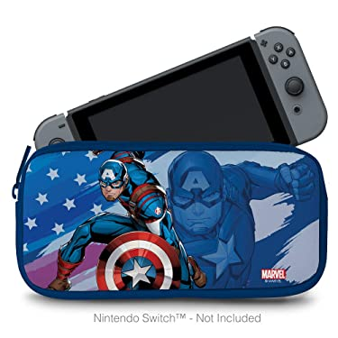 Controller Gear Protective Portable Neoprene Travel Carry Case Compatible with Nintendo Switch and Switch Lite - Captain America - Nintendo Switch