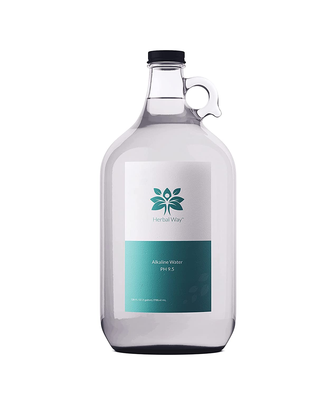 Alkaline Water discount Glass cheap Gallon 128 oz 9.5 pH