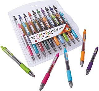 Office Depot Soft-Grip Retractable Gel Pens, Medium Point, 0.7 mm, Assorted Barrels, Assorted Ink Colors, Pack Of 20 Pens