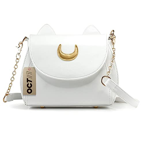 Oct17 Moon Luna Purse Kitty Cat satchel shoulder Bag Designer Women Handbag  Tote PU Leather Sailor 56219092b54aa