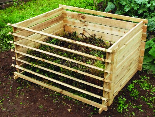 Lacewing Easy-Load Wooden Compost Bin