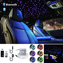 New Upgrade Car use 10W Twinkle LED Fiber Optic Light Star Ceiling Kit Bluetooth APP//28-key Remote Music Mode Starlight Headliner Light Kit 220pcs 0.03in 6.5ft