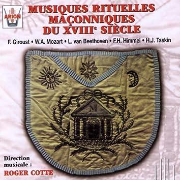 Musiques rituelles maçonniques du 18ème siècle