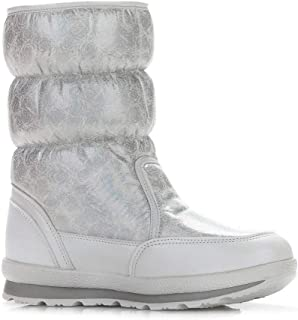 ONLY TOP Women's Snow Boots Thermal Fur Lined Outdoor Mid Calf Boot Waterproof Rain Booties Winter Slip On Shoes