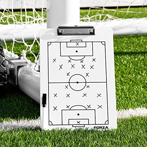 FORZA Fußball Trainingstafeln │ Fünf Fußballtaktiktafeln, die einfach zu abwischen sind│ Stifte Werden enthalten │ 5 erhältlich (Training Zwischenablage)
