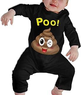 SARA NELL Baby Boys & Girls Bodysuit Poop Emoji Jumpsuit Onesies Long Sleeve