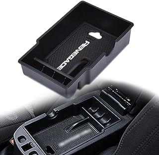 EDBETOS Auto Center Console Organizer Glove Box Secondary Storage for Jeep Renegade 2015 2016 2017 Console Armrest Box