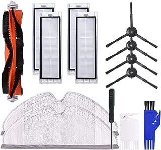 Dolloress Side Brush&Hepa Filters&Bristle Brush Compatible with Xiaomi 2/Roborock T65 S6 Robotic Vacuum Cleaner Replacemen...