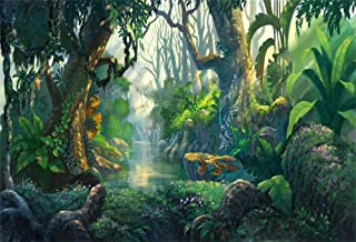 Yeele 10x8ft Fairy Tales Backdrop for Photography Fantasy Fairyland Tropical Virgin Forest Jungle Sunlight Flowers Background Kids Birthday Party Photo Booth Shoot Vinyl Studio Props