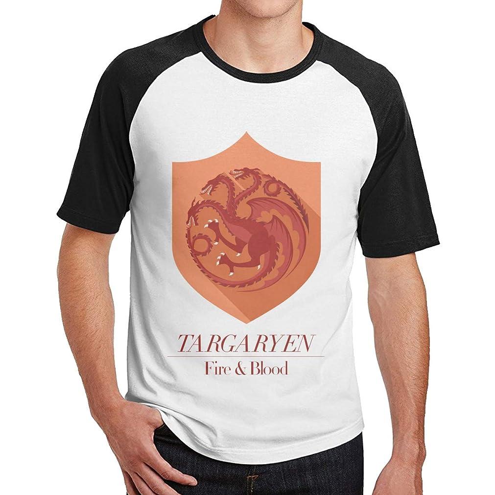 切る拷問フクロウGame Of Thrones 1 強健だ Tシャツ メンズ ラグラン スポーツ 無地 綿 着心地がいい カジュアル 半袖 コットン クルーネック Tシャツ