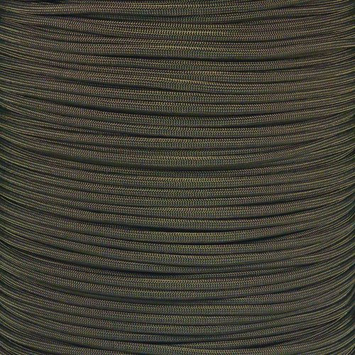 PARACORD PLANET 10 20 25 50 100 Foot Hanks and 250 1000 Foot Spools of Parachute 550 Cord Type III 7 Strand Paracord (Olive Drab 100 Feet)