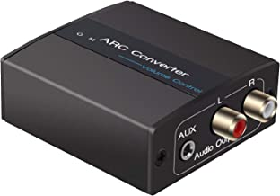 HDMI ARC Audio Converter, Tiancai ARC Adapter for HDMI ARC to Stereo R/L + 3.5 mm Jack,Compatible for Sound Bar, Headphone etc ,Support Multi-Ports Output Simultaneously