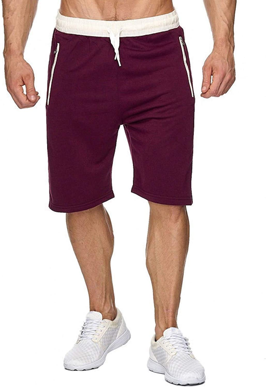 WSLCN Men Workout Gym Running Shorts Training with Inner Compression Quick Dry