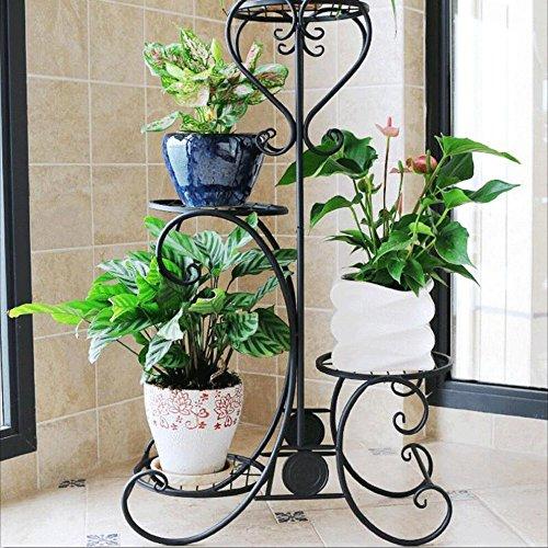 Support de fleur de fer/support, support de pot de fleur de 4 niveaux, support de plante d'intérieur