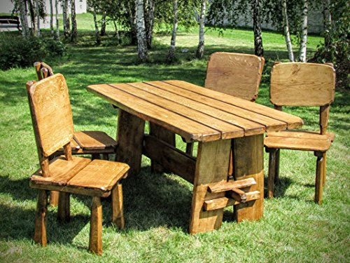 Timberline Timberline Sitzgruppe Natura 150 cm Outdoor Gartenmöbel, Farbe:Teak;Material:Birke