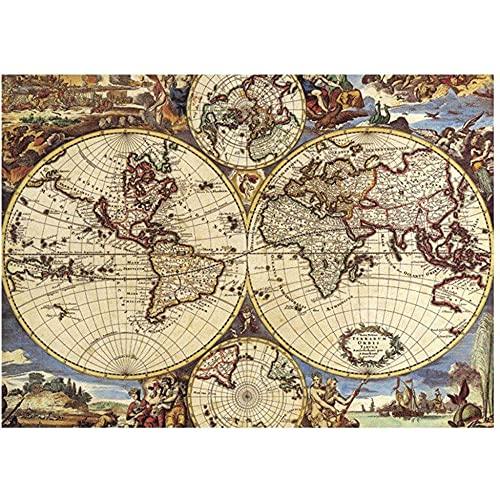 Puzzle 5000 piezas Mural Puzzle/Mapamundi Antiguo