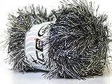 100 Gram Black & White Eyelash Yarn Ice Fun Fur...