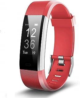 NBWS–Brazalete de Fitness con pulsómetro, podómetro Reloj Pulso Reloj Resistente al Agua IP67podómetro Actividad Tracker Bluetooth Smart Watch Reloj de Pulsera, para niños Mujer Hombres