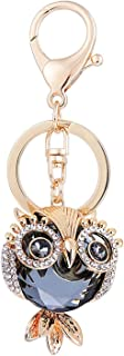 New Creative Animal Series Big Eye Owl alloy Diamond Keychain