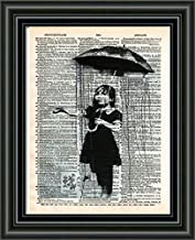 banksy umbrella girl print