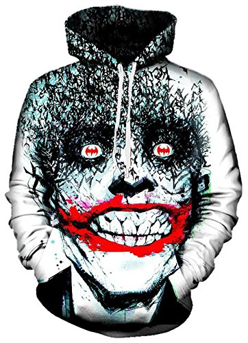 On Cue Apparel Joker Hoodie - Premium All Over Print Graphic Hoodies