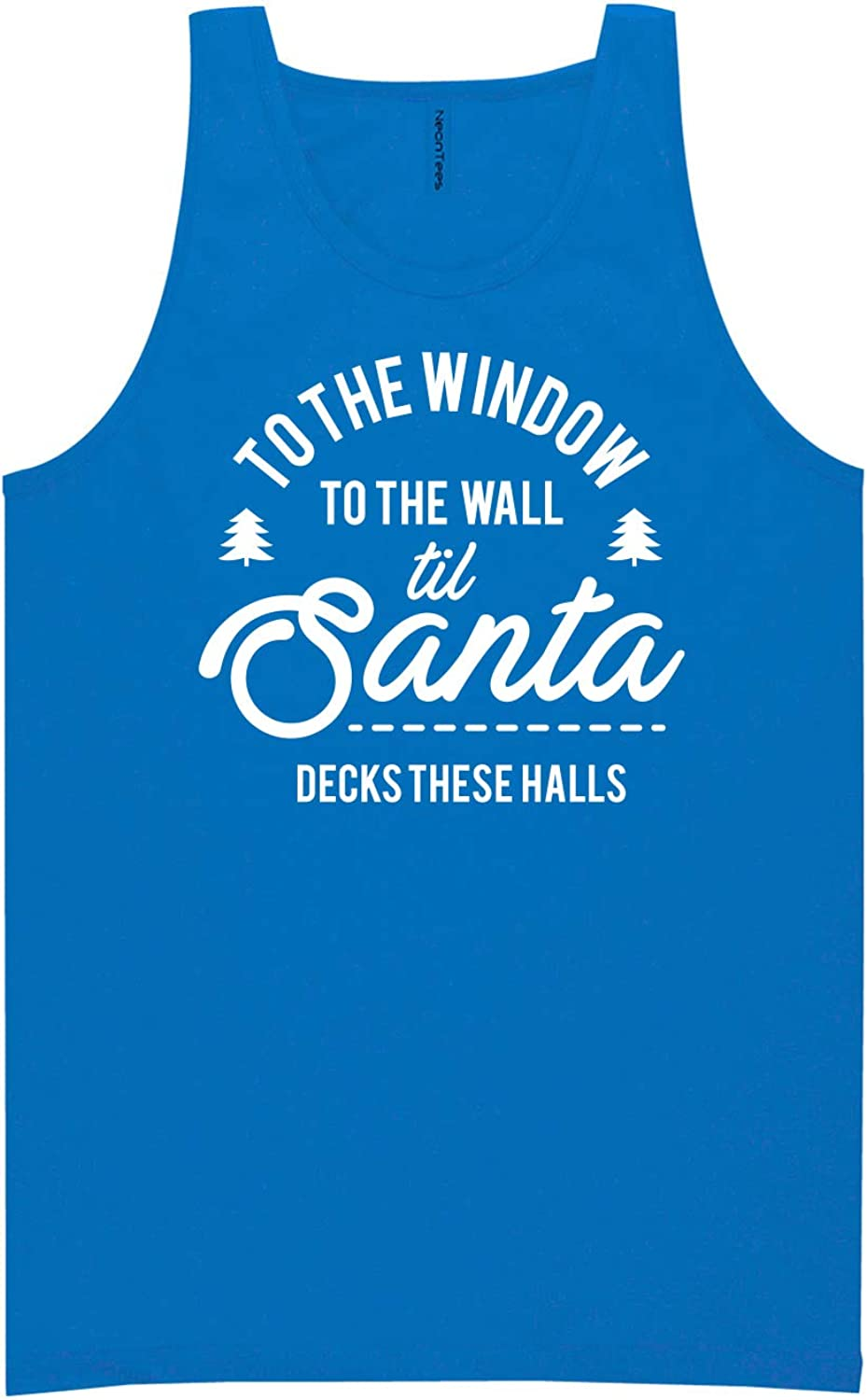 to The Window to The Wall Neon Blue Tank Top - XX-Large