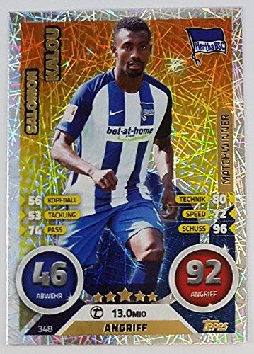 Preisvergleich Produktbild 348 - Salomon Kalou - Hertha BSC - Matchwinner (Topps Match Attax Bundesliga 2016 / 2017)