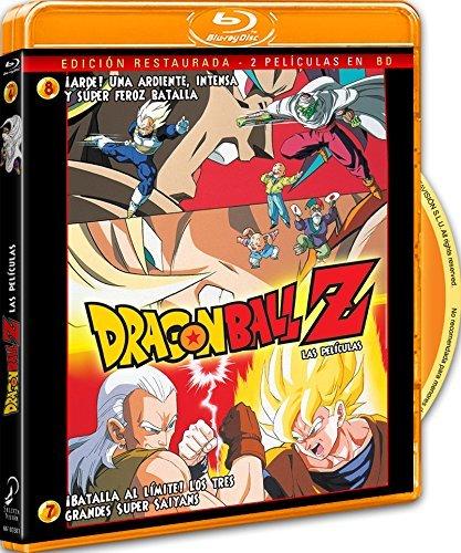 Pack Dragon Ball Z. Película 7: ¡Batalla Al Límite! Los 3 Grandes Super Saiyans.+ Película 8: ¡Arde! Una Ardiente, Intensa Y Super Feroz Batalla. Blu-Ray [Blu-ray]