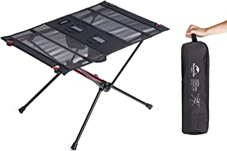 Naturehike Folding Camping Table - Portable Folding Table Compact Lightweight Small Folding Roll-up Table with Carry Bag f...