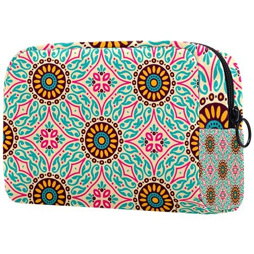 Bolsa de brochas de maquillaje personalizable, portátil, bolsa de aseo para mujer, organizador de viaje de colores, mariposas y hojas