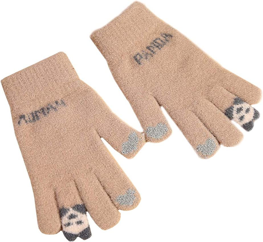 1 Pair Winter and Fall Women Touch Screen Warm Gloves Knitted Gloves for Women Decor for Banquet Celebration Favors