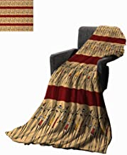 Full-blown flowers African Woman Throw Blanket Native Indigenous People Different Poses Tribal Ancient Culture Borders,Super Soft and Comfortable,Suitable for Sofas,Chairs,beds