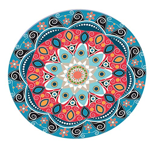 LOVIVER Non-Slip Round Waterproof Non-Slip Round Elastic Fitted Table Cover, Round Tables Tablecloth Table Cloth, Home Tabletop Decorations for 120cm Dia. - D