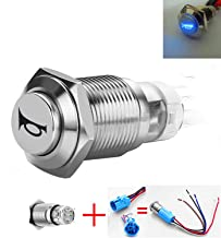 Viping Car Horn Button Switch momentary Push Button Switch 12V 16mm LED On/Off Switch Reset Switch Button Metal momentary Speaker Horn Switch Power Metal Toggle Switch Car Boat Motorcycle DIY Switch