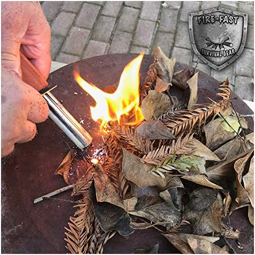 Fire-Fast Trekker. Best Emergency Waterproof Survival Fire Starter. Magnesium and Euro Fire Steel Ferro Rod. Compact… 5