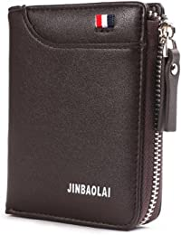 Kobwa Homme PU Cuir courte Mini Wallet Portefeuill