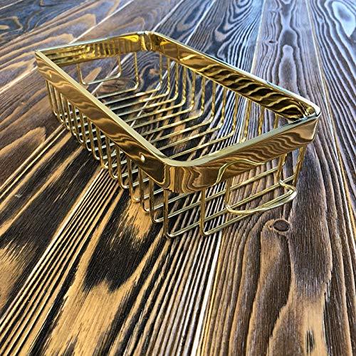 Zzaoxin Estantería de baño de lujo para colgar en la pared, color dorado