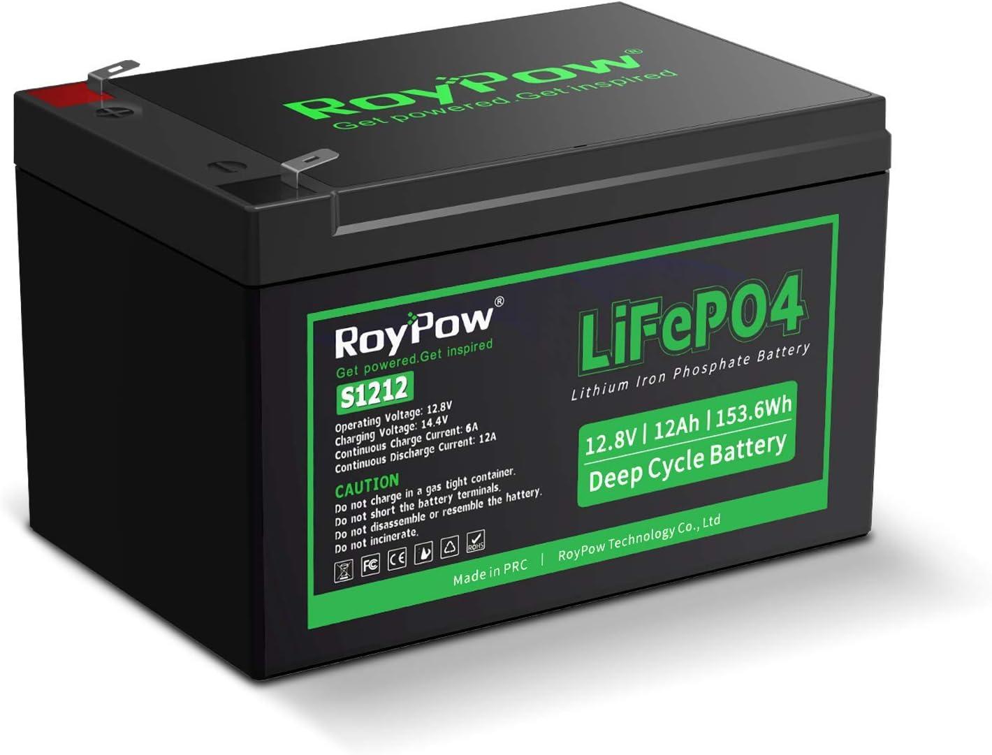 12V Lithium Battery 大特価!! 売れ筋 RoyPow Rechargeable 12Ah Ir LiFePO4