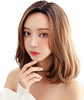Women's Synthetic Fiber Side Part Lace Short Wig Lace Heat Resistant High Temperature Wig,Hairpieces