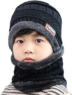 2 PCS Kids Boys Girls Winter Hat and Scarf Set, Warm Snow...