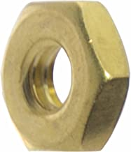 10-24 Machine Screw Hex Nuts, Solid Brass, Grade 360, Plain Finish, Quantity 100