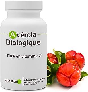 ACEROLA - VITAMINA C NATURAL * 170 mg / 60 comprimidos * Energia (fatiga). Hueso. Inmunitario. Piel (antiedad) * Garantía