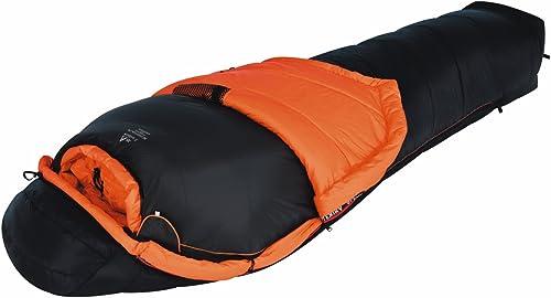 Alexika Alpha 1+2 fermeture éclaire à gauche Sac de couchage mixte adulte Noir Intérieurs Orange 100 X 235 X 70 cm