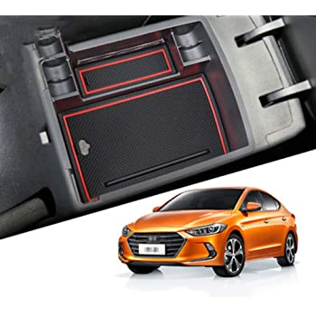 Maite Car Armrest Storage Box for Hyundai Tucson 2019 No fit MT Central Console Tray Armrest Organizer