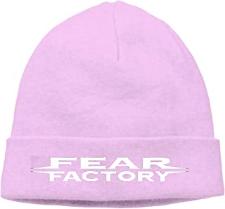 Pink Fear Factory Metal Band Beanie Cap Adult Unisex Knit Winter Warmth Beanie Hat