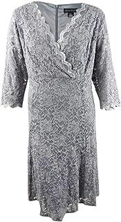 Jessica Howard Plus Size Womens Surplus Bodice Empire Waist Fit & Flare Dress