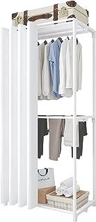 UDEAR Porte-vêtements Autoportant Close Armoire Penderie Organisateur de Vêtements avec Tringle à Vêtements, étagère de Ra...